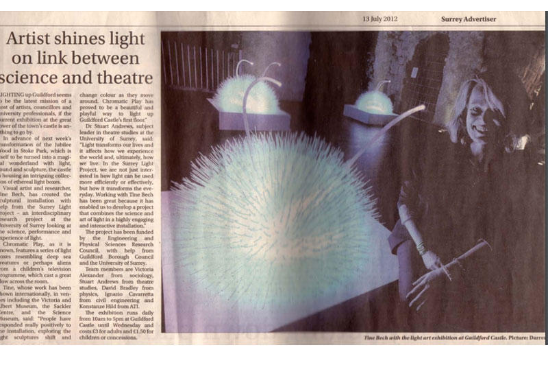 Artist Shines Light On Link Between Science And Theatre
