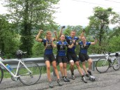 "Day 2: Team CRUSH crushes the first ""mountain"" - it was hard back then. (To Lykens, PA)"