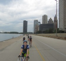 Day 23: We roll out of Chicago on the Lakefront trail.