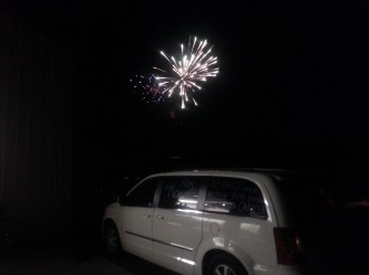 Fireworks to end a solid day.