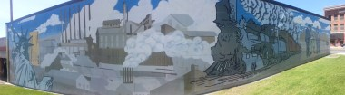 Awesome mural I found in Butte where we got the food.