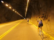 Tunnels through the mountains to the Cody Dam