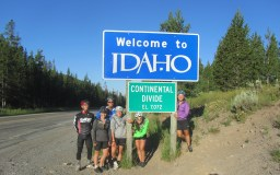 We bounced back and forth between Idaho and Montana all day.