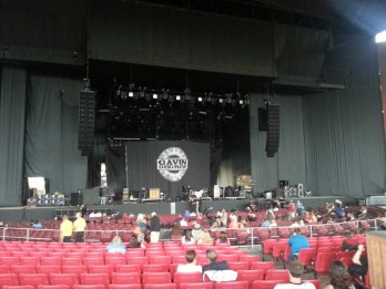 White River Amphitheater is pretty huge, but we were very close!