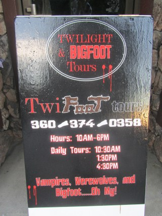 Really? Twilight was shot in Forks, but this is ridiculous.