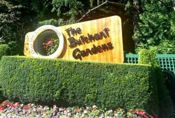 Buchart Gardens outside of Sidney, British Columbia.