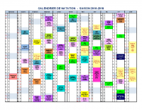 CALENDRIER DATES NATATION SAISON 2018-2019