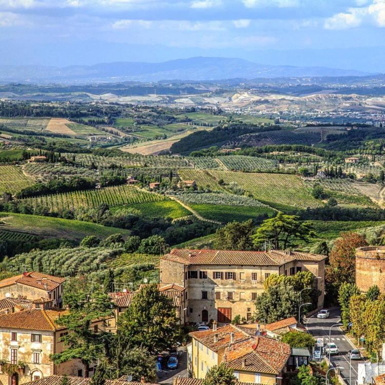 Beautiful Tuscany! View from San Gimignano, San Gimignano