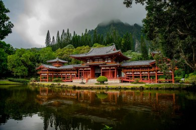 Byodo-In at the Valey of the Temples, Oahu, Hawai'i