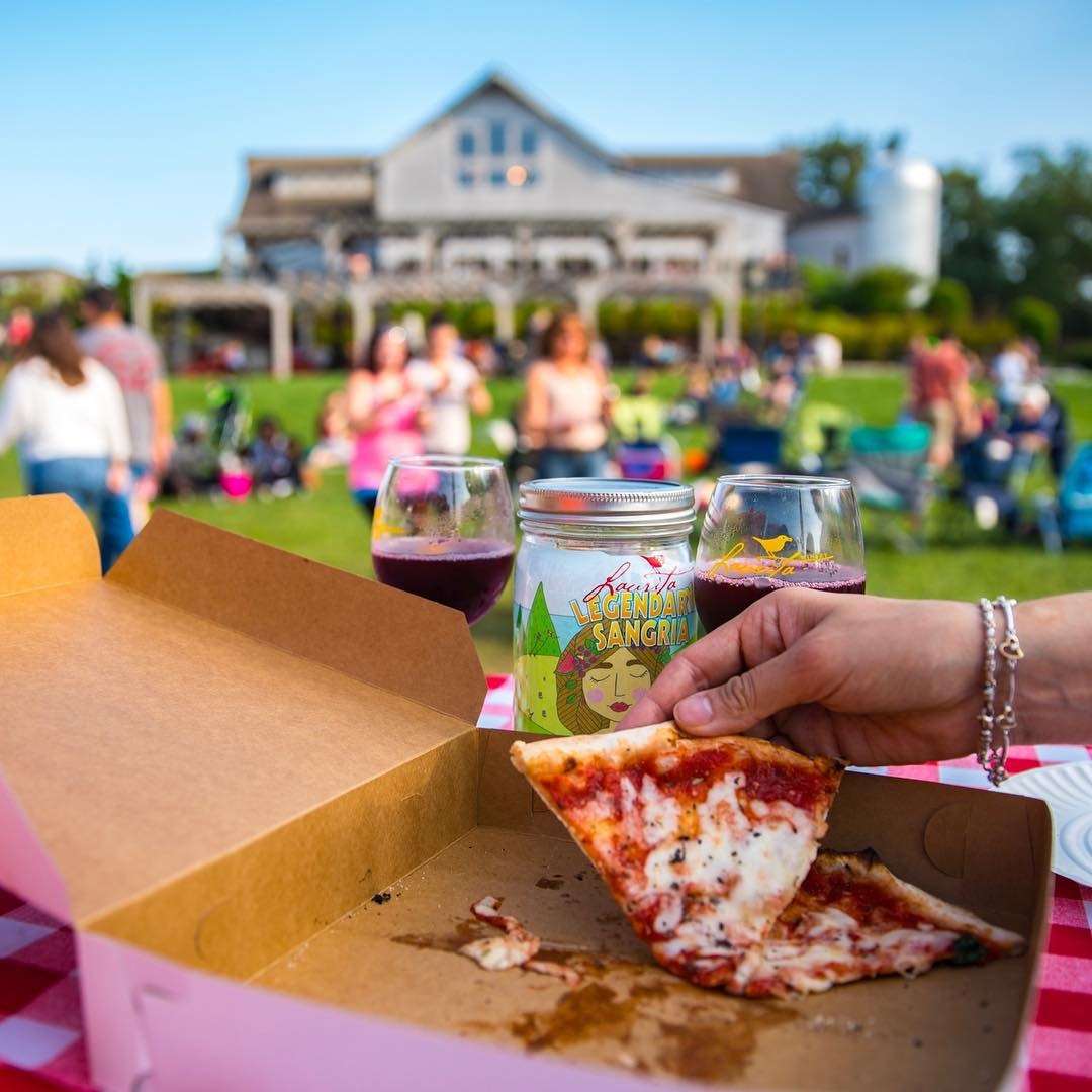 Sangria and Pizza at Laurita Winery Food Truck Festival, Laurita Winery,