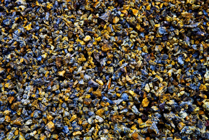 texture, Volcanic little stones, Santa Isabella Island, Galapagos, Ecuador