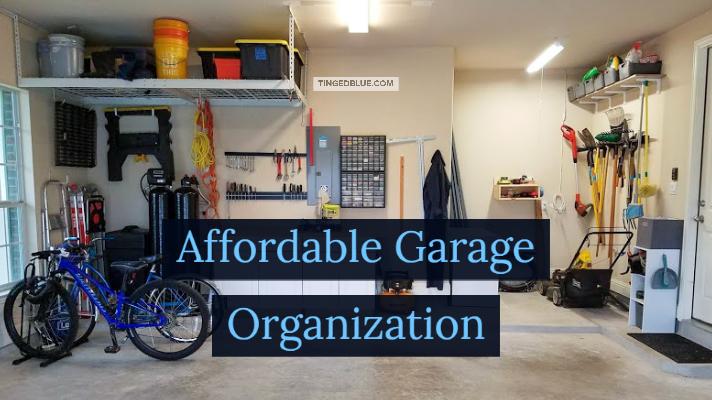 Garage Organization Ideas Tinged Blue, Organizing Garage Ideas