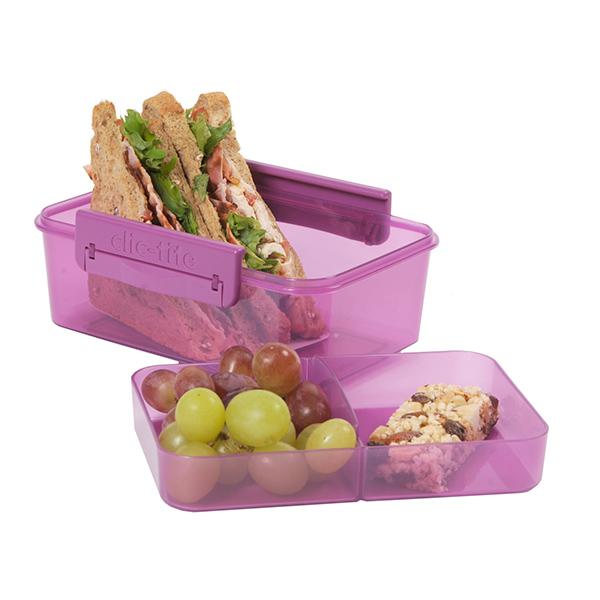 ruminddelt madkasse i pink - uden BPA pris kr. 49