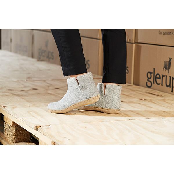 Glerup hjemmesko - støvle i 100% naturligt uld