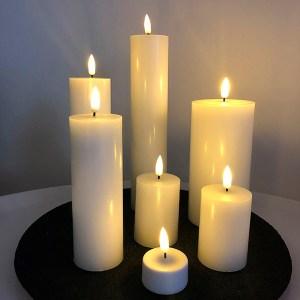 LED bloklys - sæt med 7 lys