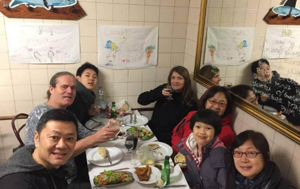 FROM BEIJING TO THE BEST TASCA NEAR OUR HOTEL IN LISBON WANG JING FROM BEIJING CHINA with friends