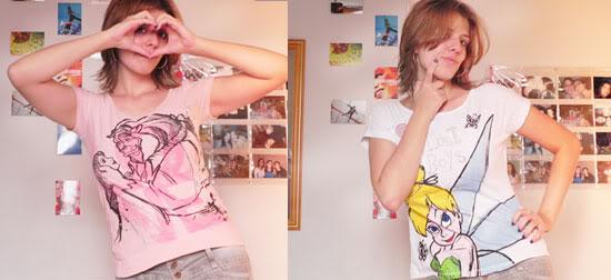 Camisetas - Bela e a Fera e Sininho