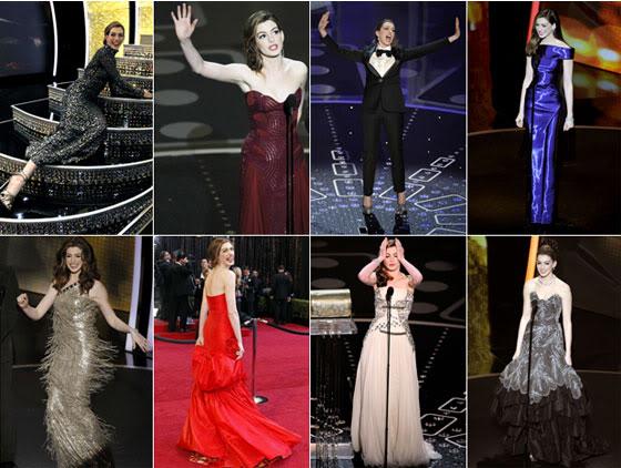 Anne Hathaway Looks Oscar 2011