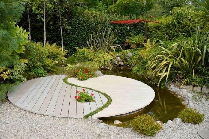 jardin-Feng-Shui-décoration-centre-Ba-gua-symbole-yin-yang