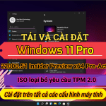 Download Windows 11 Pro v21H2 build 22000.51 Insider Preview x64 fixed TPM 2.0