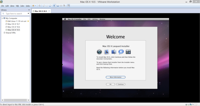 Mac OS X lên VMWare trên Windows