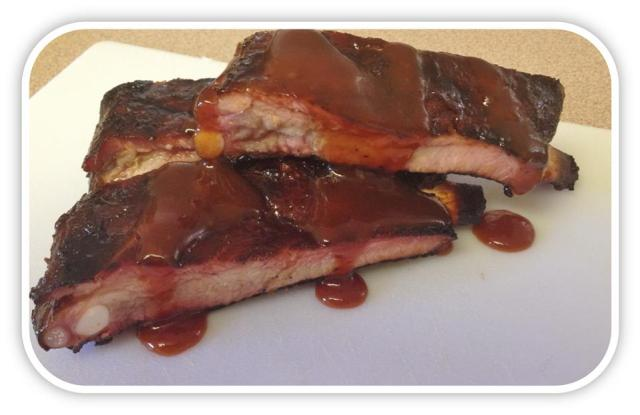 BBQ Ribs, Chocolate Rub, Tin Hut BBQ Special Recipe