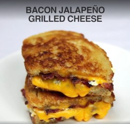 Bacon and Jalapeno Grilled Cheese Sandwich