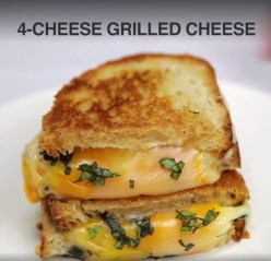 Four Cheese Grilled Cheese Sandwich