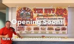New Tin Hut BBQ Pearl Highlands Center Restaurant to Open in August
