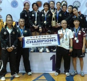 CHAMPIONS: The UP Women's Table Tennis Team (Photo from their official page)
