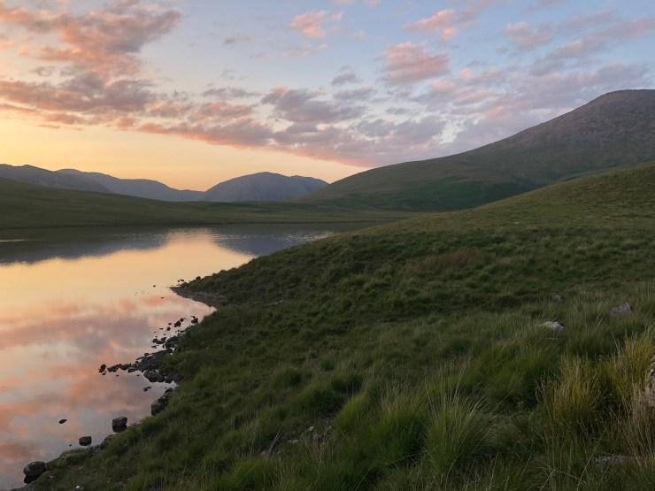 sunset at Burnmoor lodge