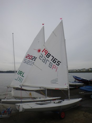 Laser Radial rigged and ready to launch