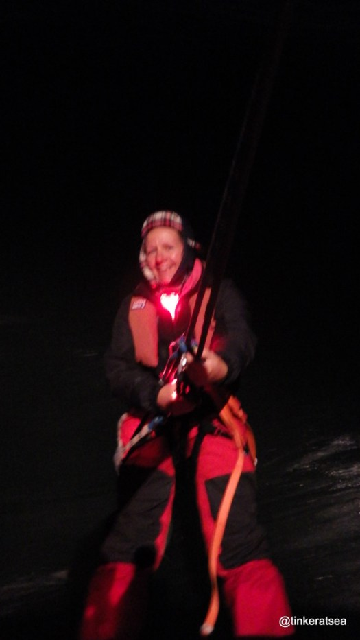 clipper 13-14 race, clipper training, man overboard drill at night