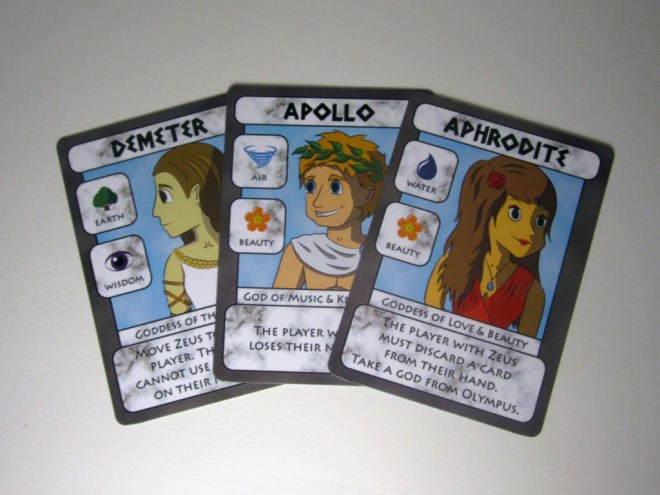 A selection of God cards