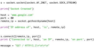 Python socket server