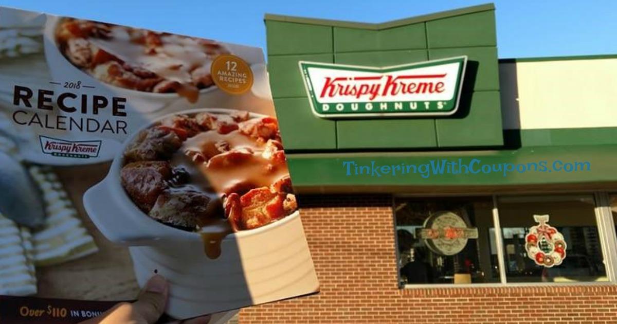 Krispy Kreme Calendar.Krispy Kreme Recipe Calendar 2018 Tinkering With Coupons More
