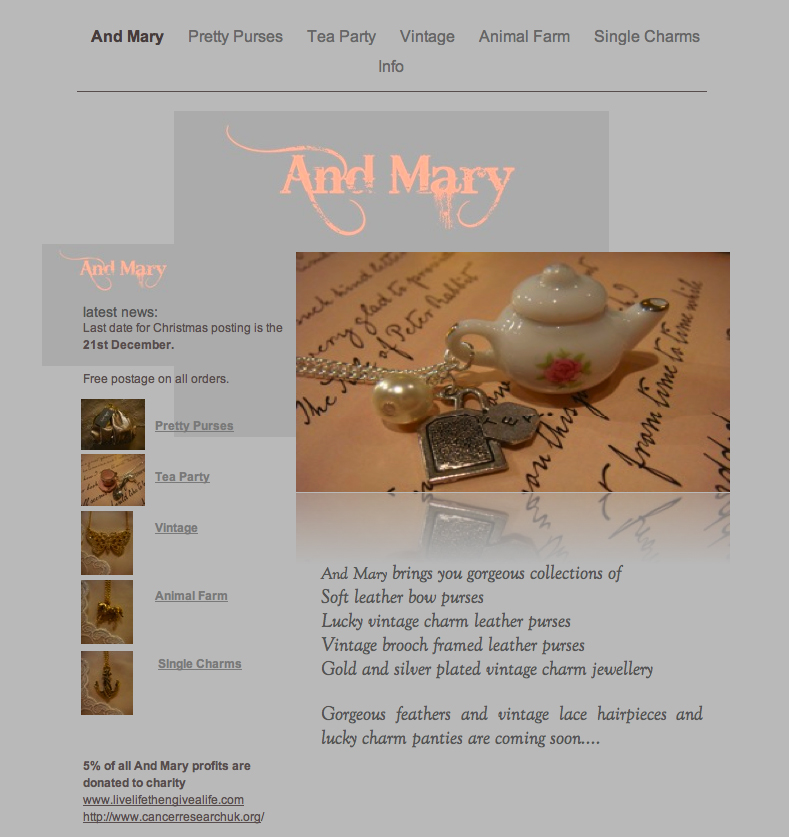 'And Mary' Launch Beautiful Boutique Jewellery Site
