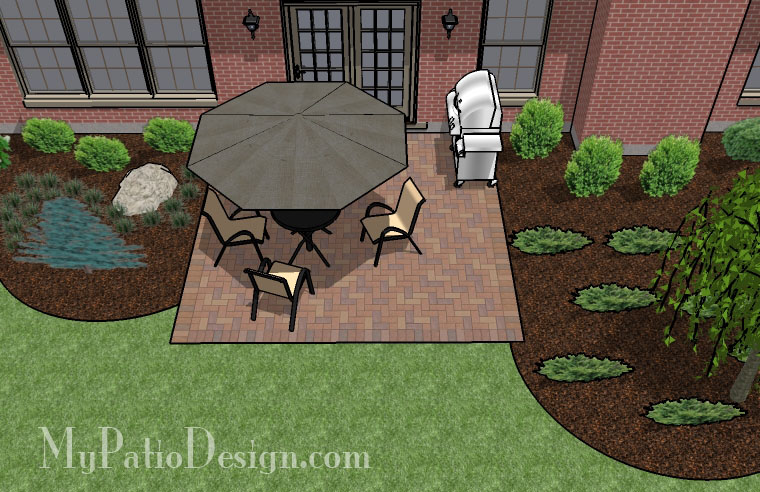 Basic Square Patio - TinkerTurf on Square Patio Designs  id=66804