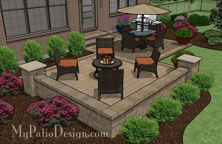Medium Two Square Patio - TinkerTurf on Square Patio Designs  id=86706