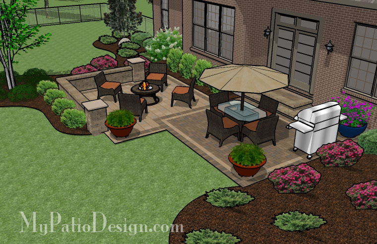 Medium Two Square Patio - TinkerTurf on Square Patio Designs  id=76325