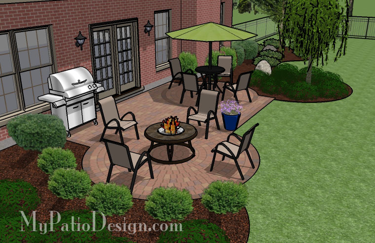 Two Circles into Rectangle Patio - TinkerTurf on Rectangle Patio Ideas id=24559