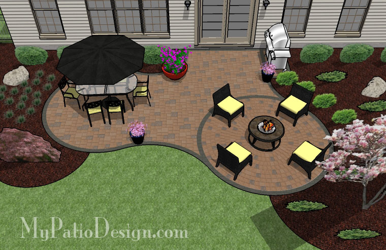 Simple Curvy Patio - TinkerTurf on Garden Patio Designs And Layouts id=13245