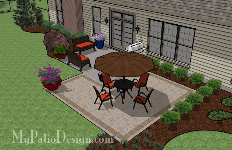 Simple Rectangle Patio Extension - TinkerTurf on Square Patio Designs  id=91703