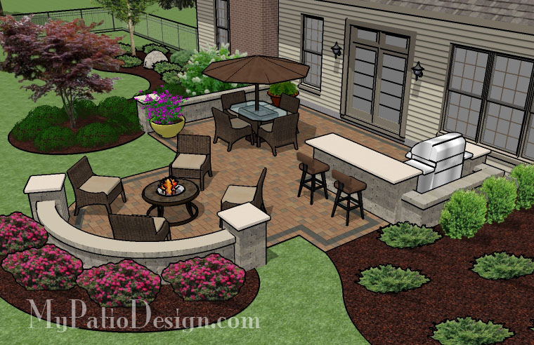 Unique Backyard Patio - TinkerTurf on Patio Designs Images  id=26392