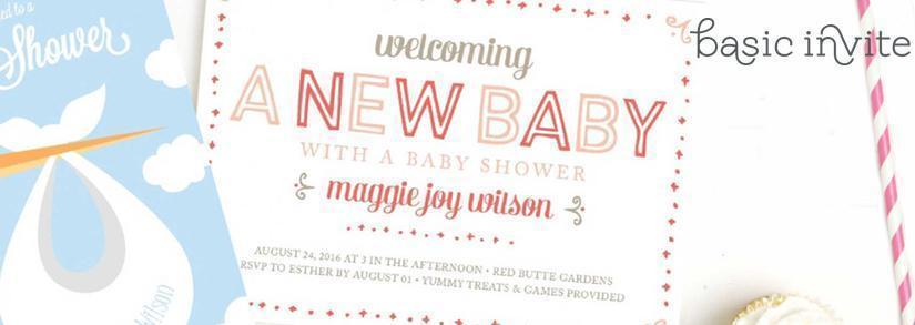 BasicInvite Custom Baby Shower Invitations Header