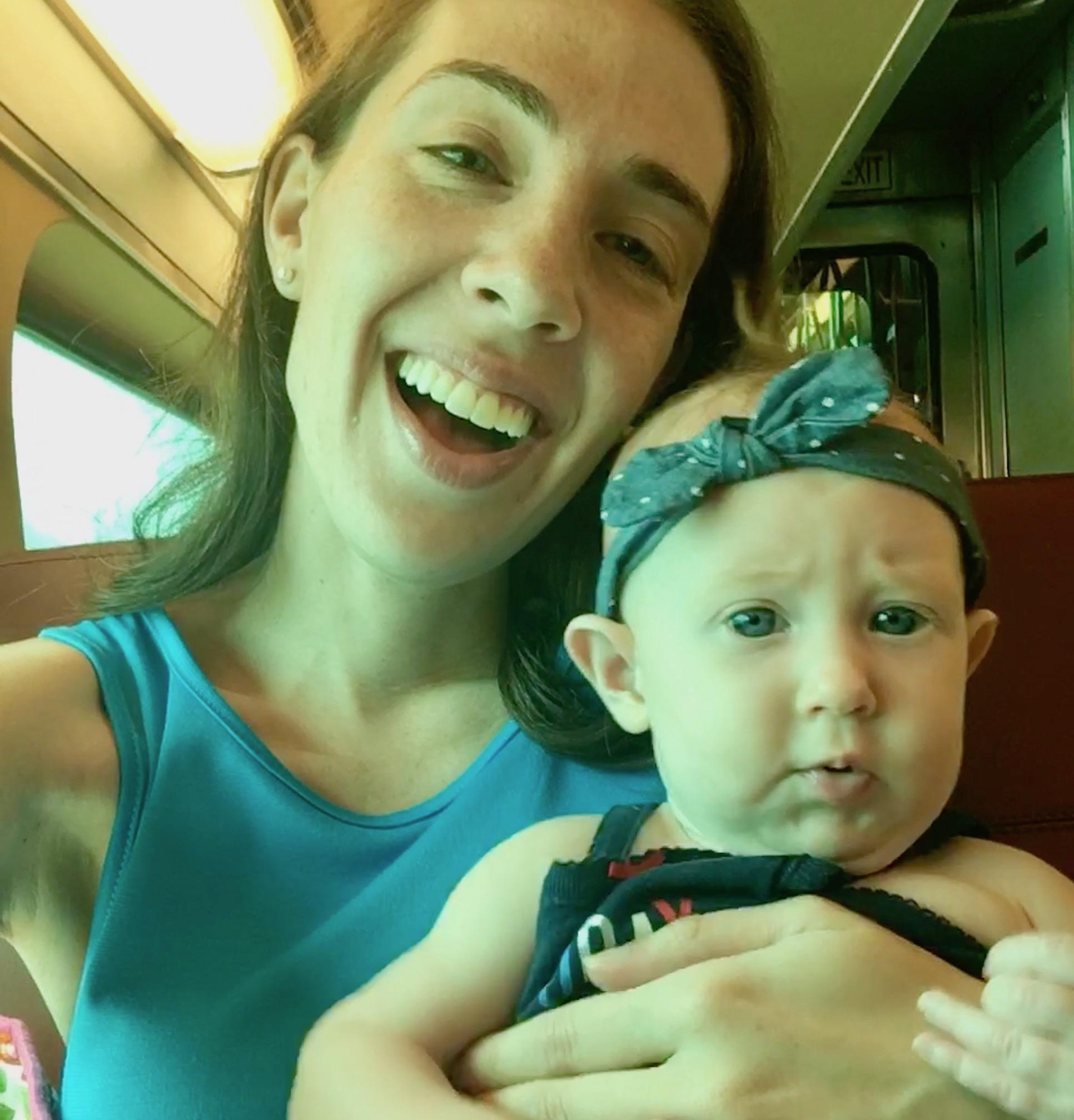 Tinley Park Mom and Daughter on Rock Island Metra July 2018