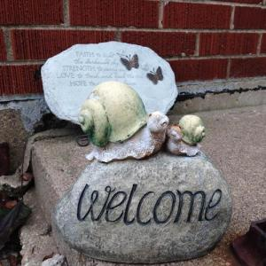 Tinley Park Psychic Snails Welcome Rock