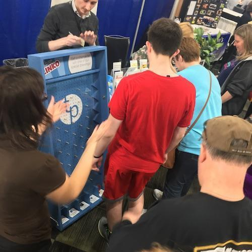 Plinko Game at Tinley Park Library Booth at Discover Tinley 2019