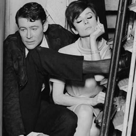 Peter O'Toole Audrey Hepburn in a closet
