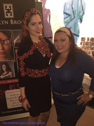 Designer Evelyn Brooks herself, with her model!